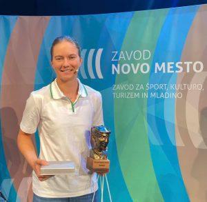 Živa Falkner - športnica leta 2020. Foto: Zavod Novo mesto